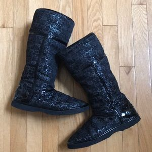Coach - black winter boots